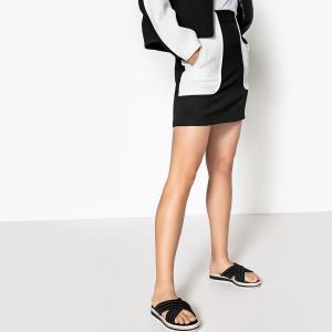 Юбка короткая двухцветная в спортивном стиле LA REDOUTE COLLECTIONS. Цвет: белый/ черный,черный/ белый