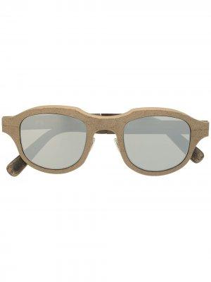 Солнцезащитные очки с зеркальными линзами Rigards. Цвет: коричневый