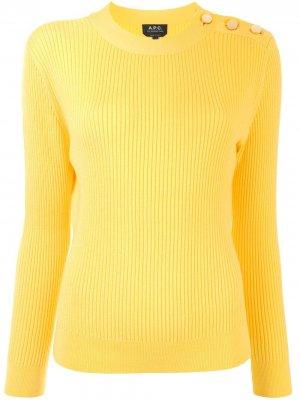Джемпер Paola с декоративными пуговицами A.P.C.. Цвет: желтый