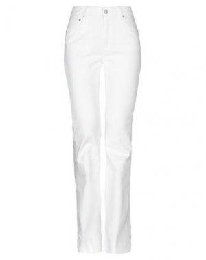 Джинсовые брюки CARE LABEL. Цвет: белый