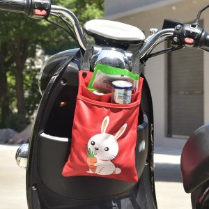 Сумка для велосипеда с принтом кролика 1шт SHEIN. Цвет: красный