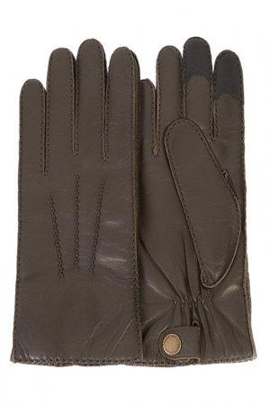 Перчатки Michel Katana. Цвет: темно-оливковый