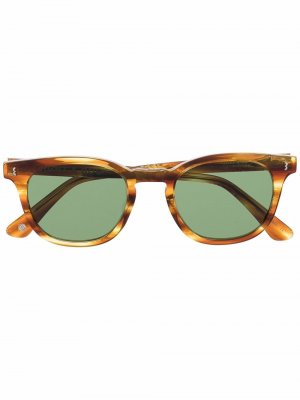 Солнцезащитные очки черепаховой расцветки Eight & Bob. Цвет: коричневый