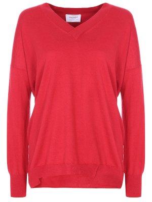 Пуловер базовый SNOBBY SHEEP. Цвет: красный