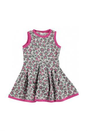 Платье IDO. Цвет: серо-розовый