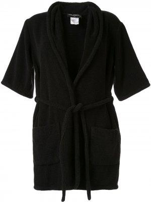 Укороченный халат Chanel Pre-Owned. Цвет: черный