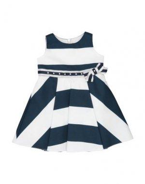 Платье LòLò. Цвет: темно-синий