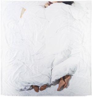Multicolor N°12 Couple Linen Set, Full/Double Bless. Цвет: white