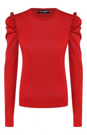 Пуловер из вискозы Dolce & Gabbana. Цвет: красный