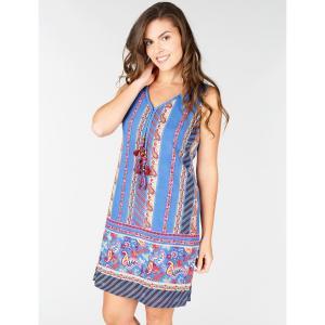 Платье с кашемировым рисунком без рукавов DERHY. Цвет: экрю/рисунок