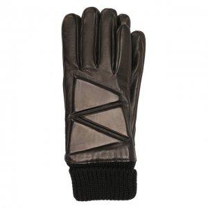 Кожаные перчатки Bottega Veneta. Цвет: чёрный