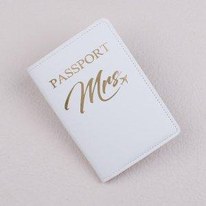 Чехол для паспорта с текстовым принтом SHEIN. Цвет: белый