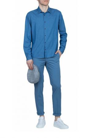 Рубашка Altea. Цвет: голубой