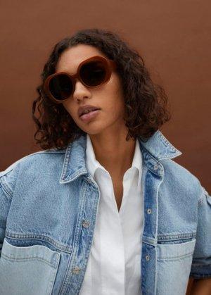 Солнцезащитные очки оверсайз - Carina Mango. Цвет: золотисто-оранжевый