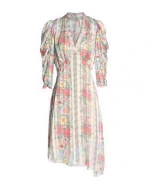 Платье до колена ANNA SUI. Цвет: бежевый