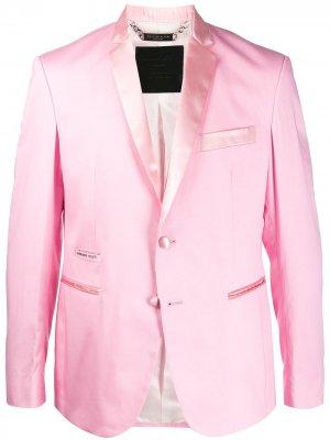 Декорированный пиджак Philipp Plein. Цвет: розовый