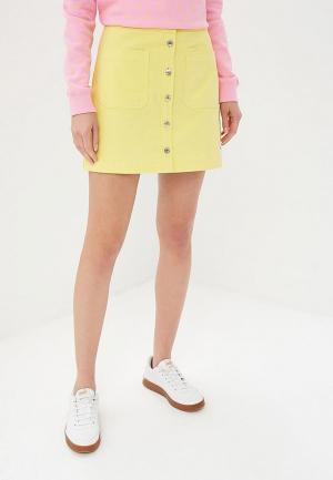 Юбка Calvin Klein Jeans. Цвет: желтый