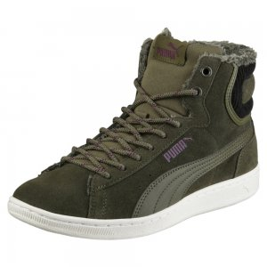 Ботинки Puma Vikky Mid Corduroy. Цвет: зеленый