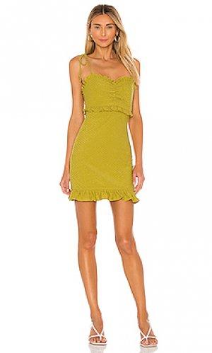 Платье josie Tularosa. Цвет: зеленый