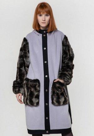 Пальто Adzhedo. Цвет: фиолетовый
