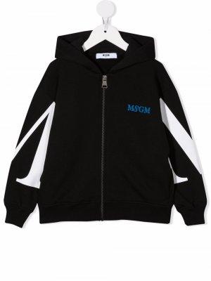Logo-print hoodie MSGM Kids. Цвет: черный