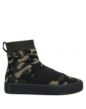 Полусапоги и высокие ботинки FESSURA. Цвет: зеленый-милитари