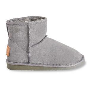 Ботинки из кожи с мехом Flocon LES TROPEZIENNES PAR M BELARBI. Цвет: серый,темно-бежевый,черный
