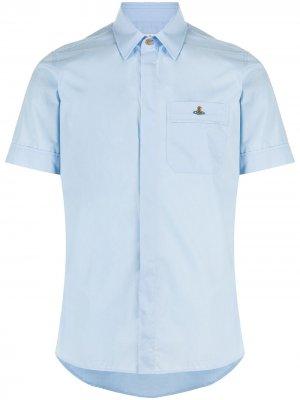 Рубашка с карманами и вышивкой Orb Vivienne Westwood. Цвет: синий