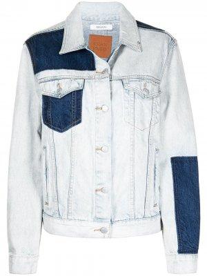 Джинсовая куртка в технике пэчворк REMAIN. Цвет: синий