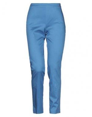 Повседневные брюки CARLA MONTANARINI. Цвет: лазурный