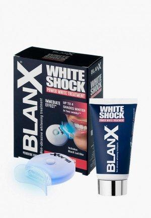 Набор для ухода за полостью рта Blanx 50 мл. Цвет: синий