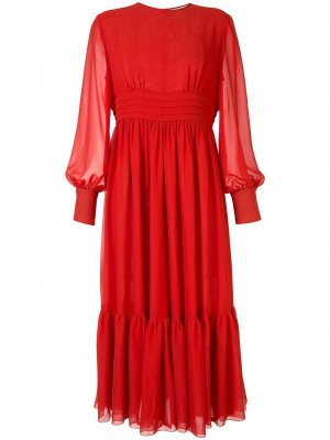 Платье миди со складками Karen Walker. Цвет: оранжевый