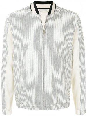 Классическая куртка-бомбер Cerruti 1881. Цвет: белый