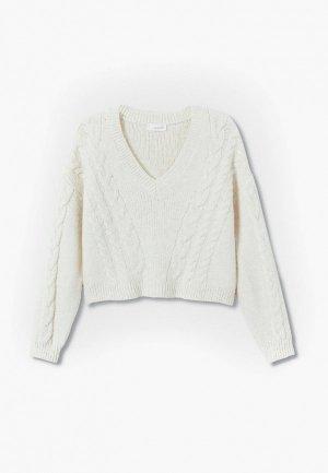 Пуловер Mango Kids LUCCO. Цвет: белый