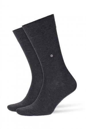 Темно-серые хлопковые носки Everyday 2-Pack Burlington. Цвет: черный