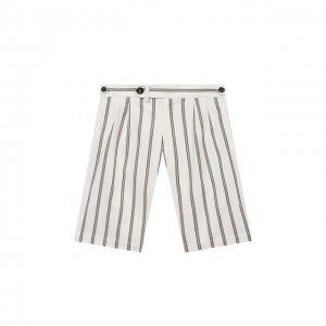 Хлопковые шорты Brunello Cucinelli. Цвет: белый