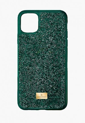 Чехол для iPhone Swarovski® 12 mini. Цвет: зеленый