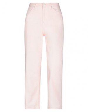 Джинсовые брюки LEE. Цвет: розовый
