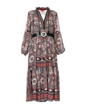 Платье длиной 3/4 ALBA CONDE. Цвет: кирпично-красный