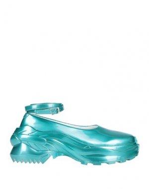 Низкие кеды и кроссовки MAISON MARGIELA. Цвет: бирюзовый