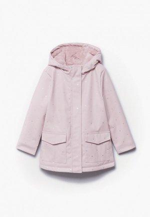 Парка Mango Kids SNOW1. Цвет: розовый