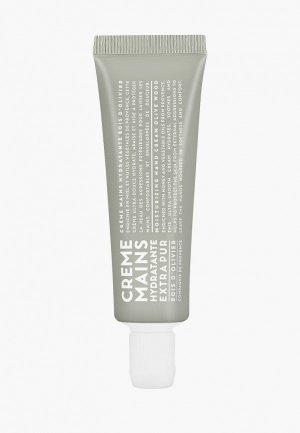 Крем для рук Compagnie de Provence Olive Wood  30 ml. Цвет: белый