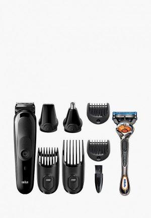 Набор Braun Машинка для стрижки MGK5260 + Бритва Gillette. Цвет: черный