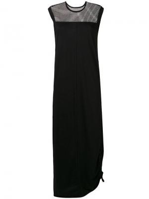 Длинное платье Godard 8pm. Цвет: черный