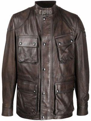 Trialmaster calf leather jacket Belstaff. Цвет: коричневый
