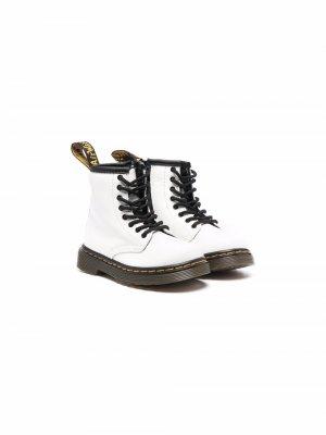 Ботинки на шнуровке Dr. Martens Kids. Цвет: белый