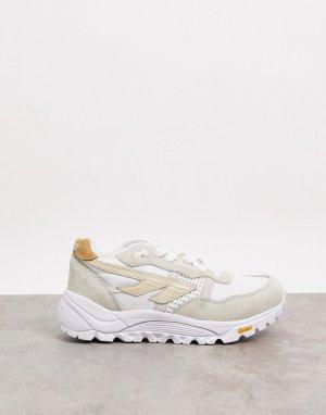 Светлые кроссовки на толстой подошве BW Infinity-Белый Hi-Tec
