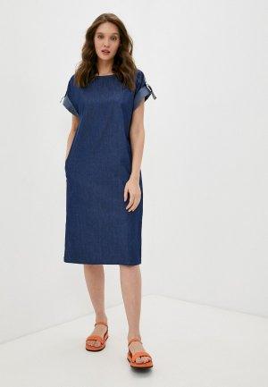 Платье джинсовое Снежная Королева. Цвет: синий