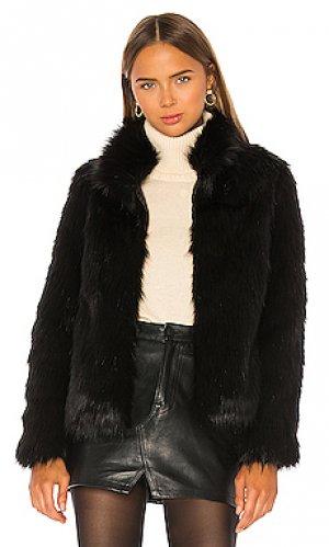 Шуба из искусственного меха fur delish Unreal. Цвет: черный