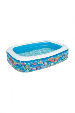 Надувной семейный бассейн BestWay. Цвет: разноцветный